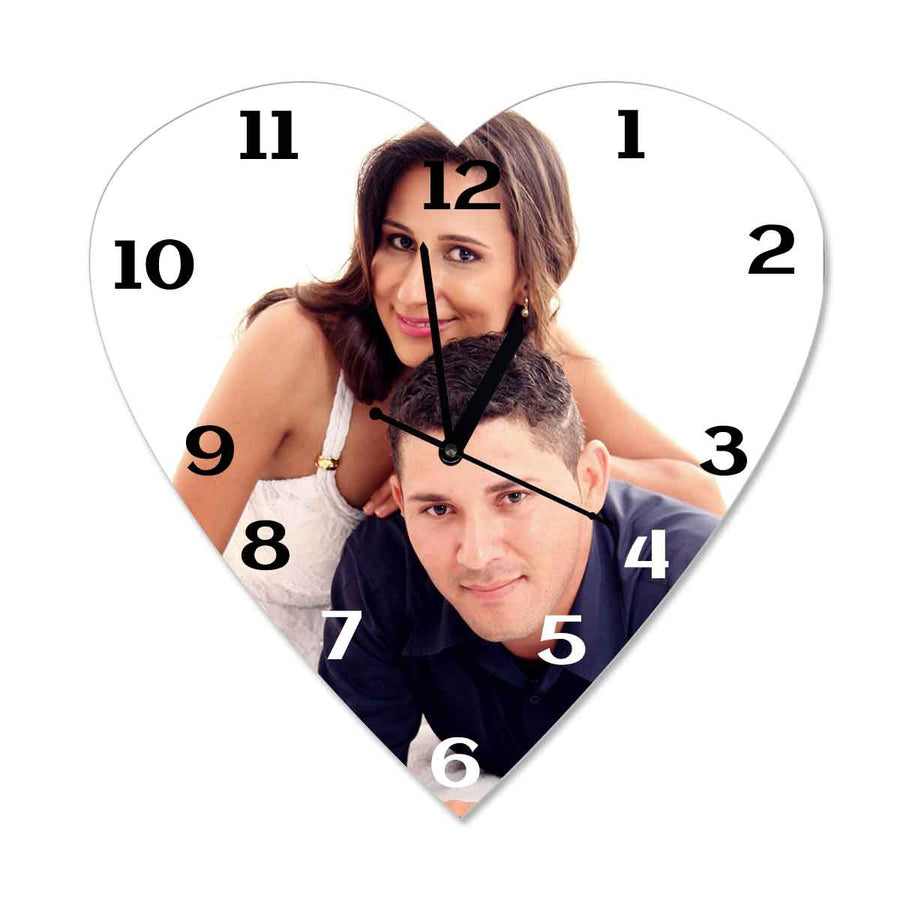 Photo Clocks-Photo Wrap Photo Clock Heart-