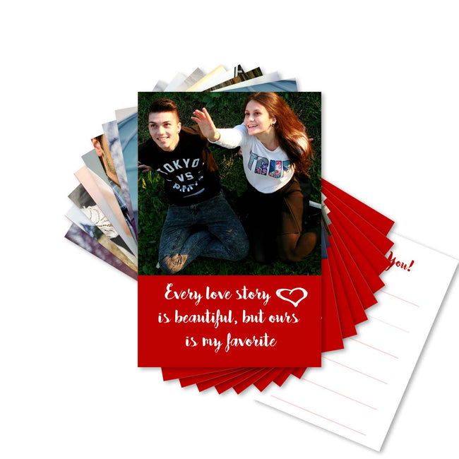Cards-Red Hearts Love Cards-