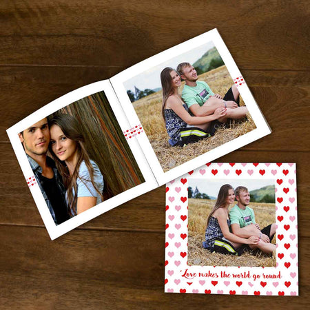 Softcover Photo Books-Love makes the world go round Flip Photo Book-