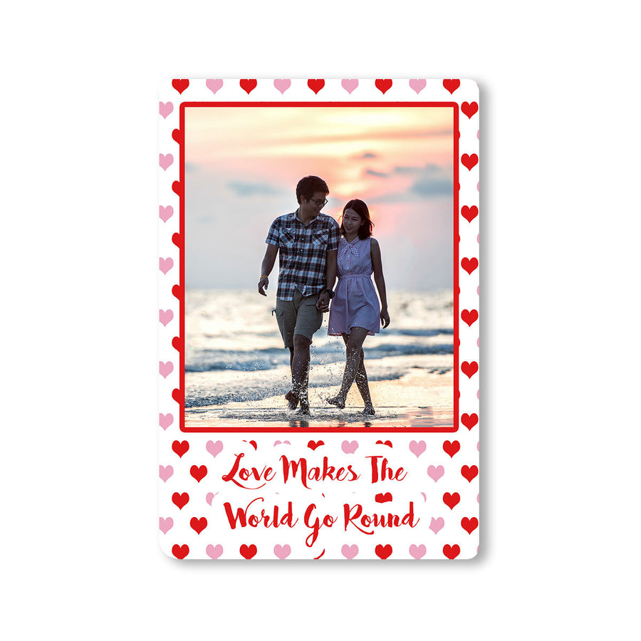 Fridge Magnets-Love Makes the World Go Round Photo Magnet-