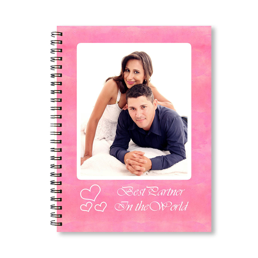 Notebooks-Pink Watercolor Personalized Notebook-