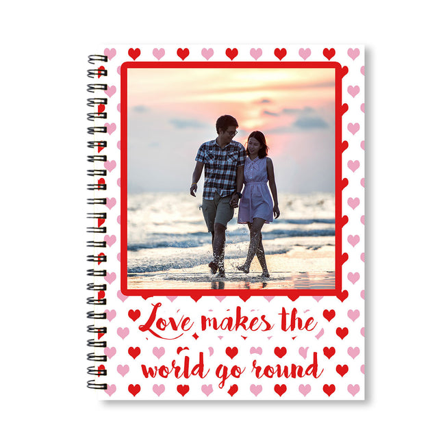 Notebooks-Love Makes the World Go Round Personalized Notebook-