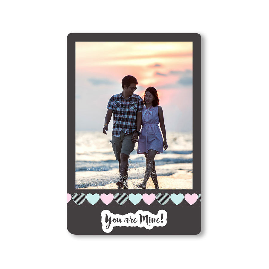 Fridge Magnets-Chalkboard Hearts Photo Magnet-