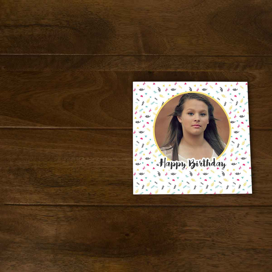 Softcover Photo Books-Birthday Confetti Flip Photo Book-6 inches x 6 inches-20 Pages