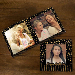 Softcover Photo Books-Birthday Black Gold Candles Flip Photo Book-6 inches x 6 inches-20 Pages