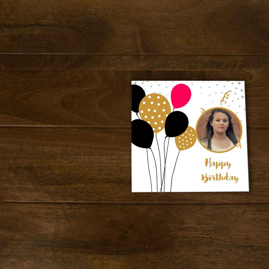 Softcover Photo Books-Birthday Red Black Balloons Flip Photo Book-