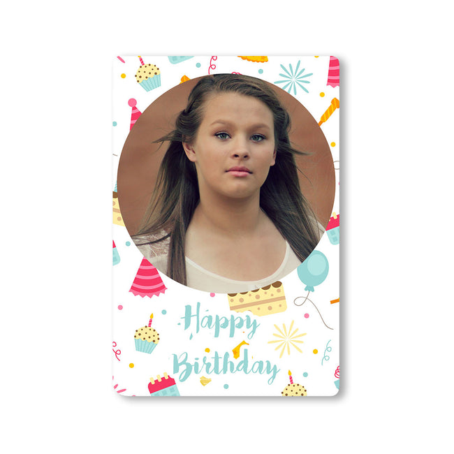 Fridge Magnets-Birthday Pattern Photo Magnet-