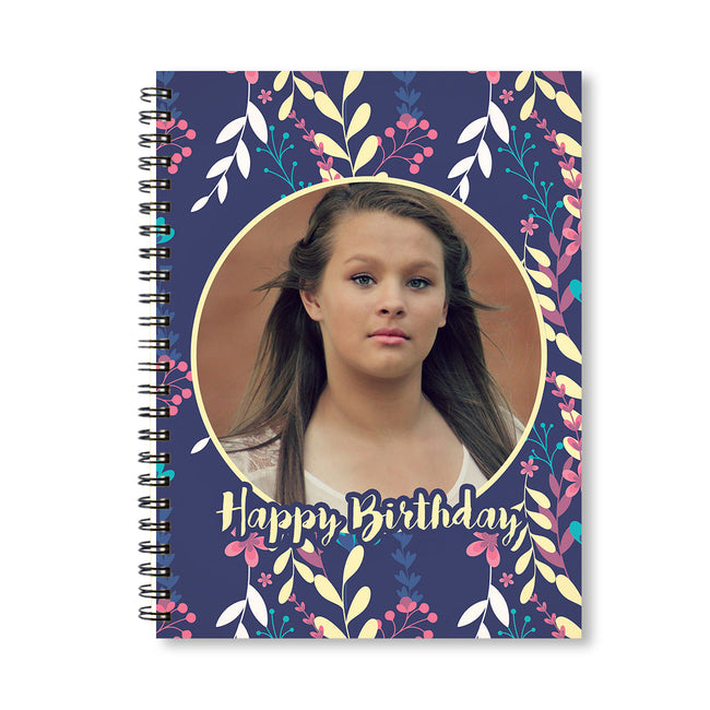 Notebooks-Birthday Purple Floral Notebook-