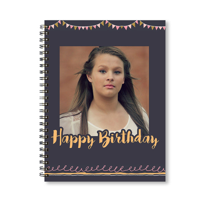 Notebooks-Birthday Banner Grey Notebook-