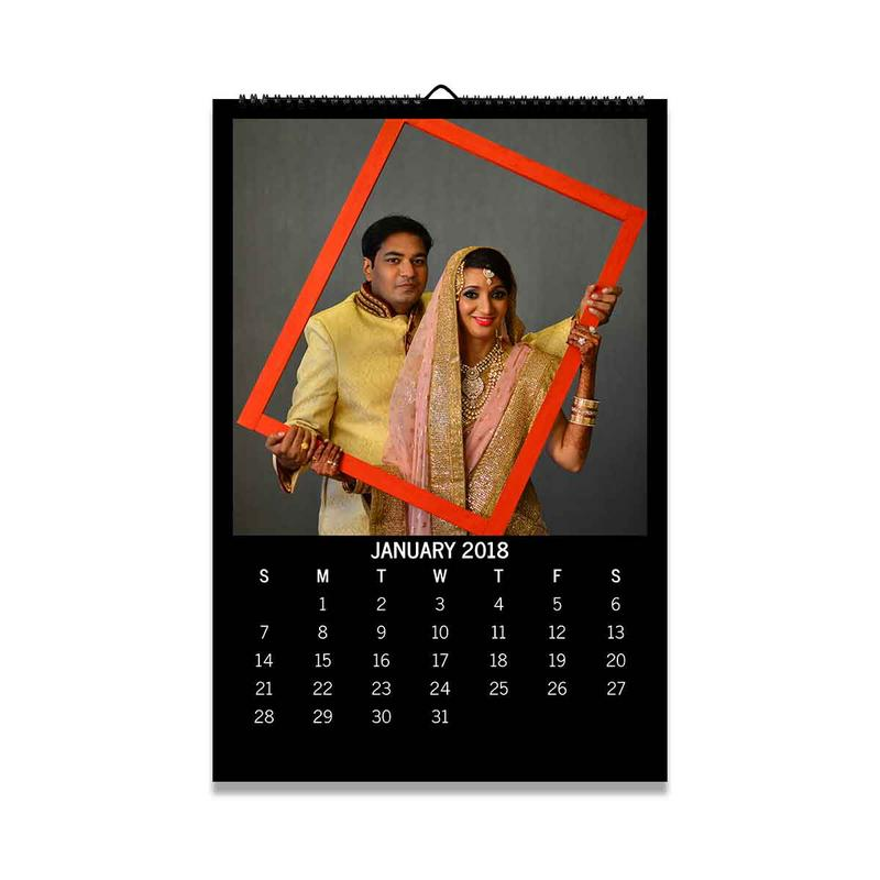 Calendars-2018 Wall Calendar - Square-Black-