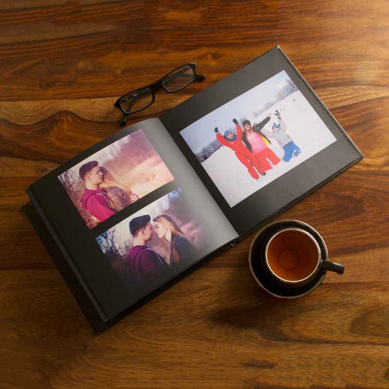 Hardcover Photo Books-Instasquare Eternal Black Hardbound Photobook-8 inches x 8 inches-20 Pages