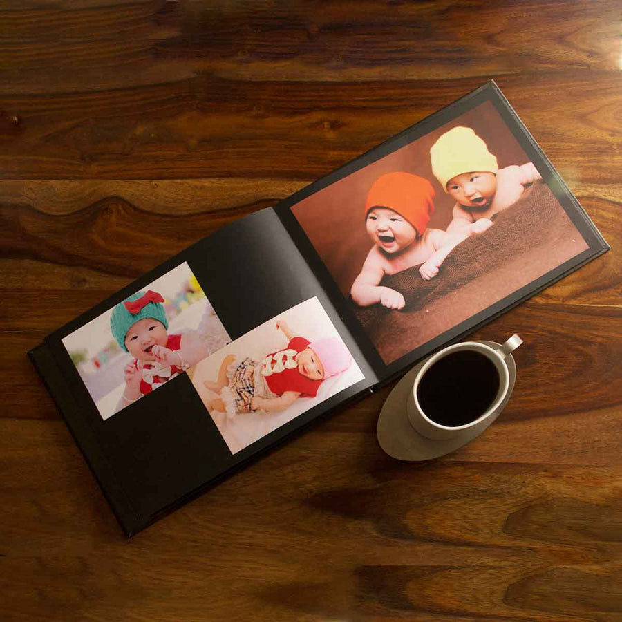 Hardcover Photo Books-Landscape Eternal Black Hardbound Photobook-8 inches (H) x 10 inches (W)-20 Pages