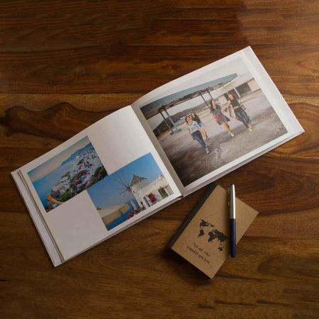 Hardcover Photo Books-Landscape Classic White Hardbound Photobook-