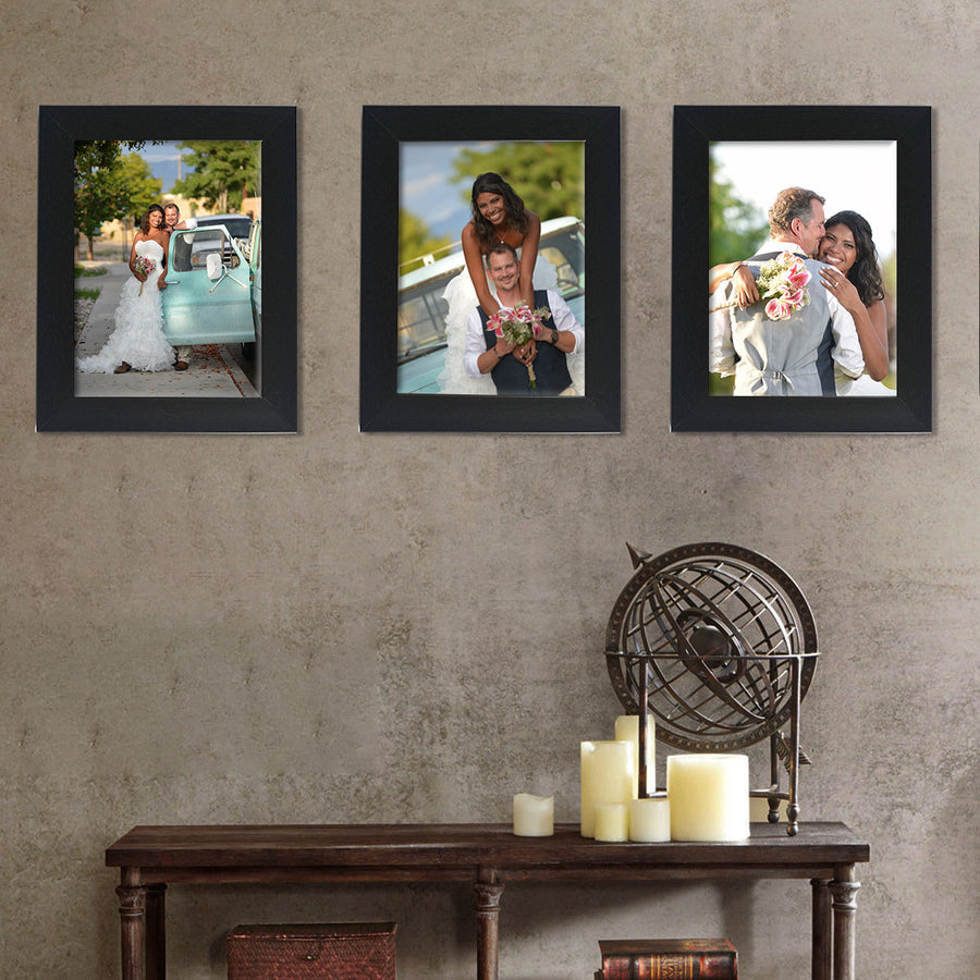 Photo Walls-Mighty Framed Prints Set of 3-12in x 18in-Black