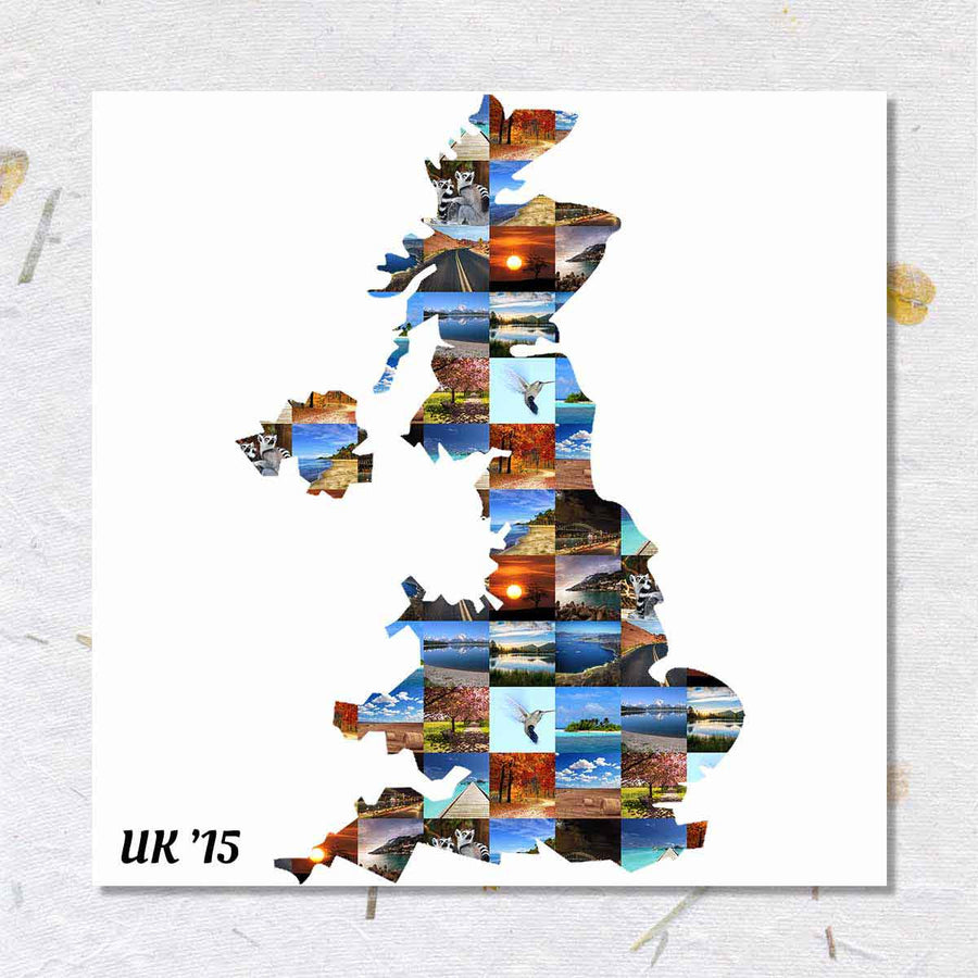 Collage Posters-Countries I've Been Collage Poster-Print Only (Without Frame)-