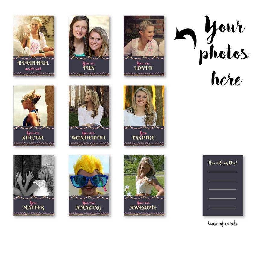 Cards-Birthday Banner Grey Cards-