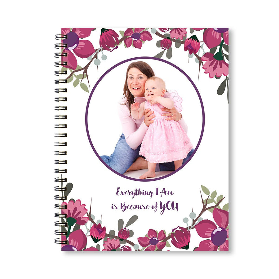 Notebooks-Spring Pink Purple Floral Notebook-