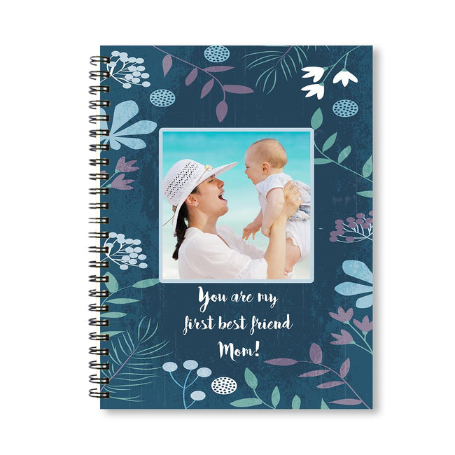 Notebooks-Floral Blue Watercolor Notebook-