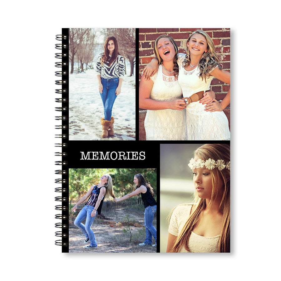 Notebooks-Classic Collage of 4 Notebook-