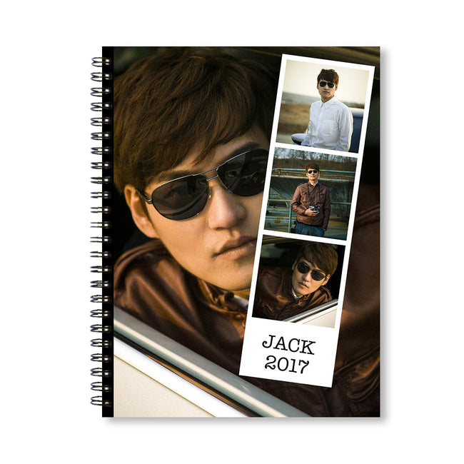 Notebooks-Classic Polaroid Style Collage Notebook-