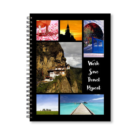 Notebooks-Classic Collage of 6 Black Notebook-