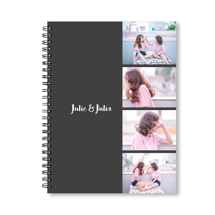 Notebooks-Classic Photo Reel Grey Notebook-