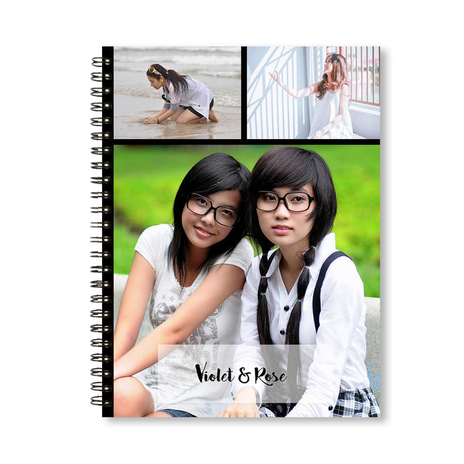 Notebooks-Classic Collage of 3 Black Notebook-