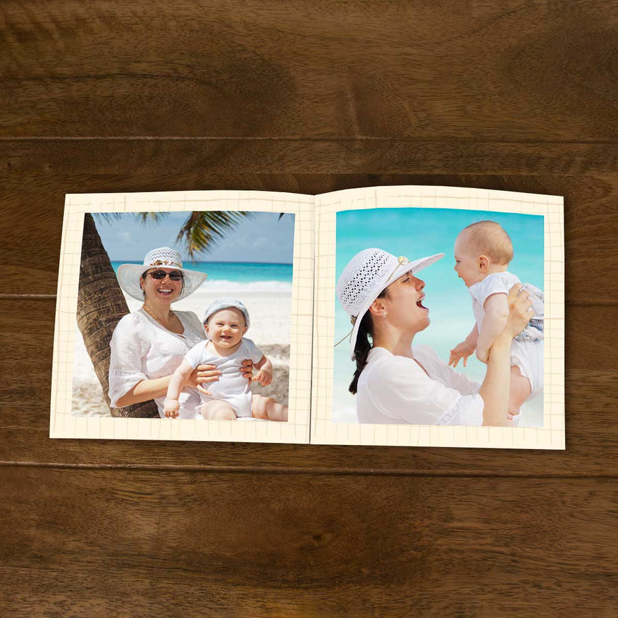 Softcover Photo Books-Travel Compass Flip Photo Book-6 inches x 6 inches-20 Pages