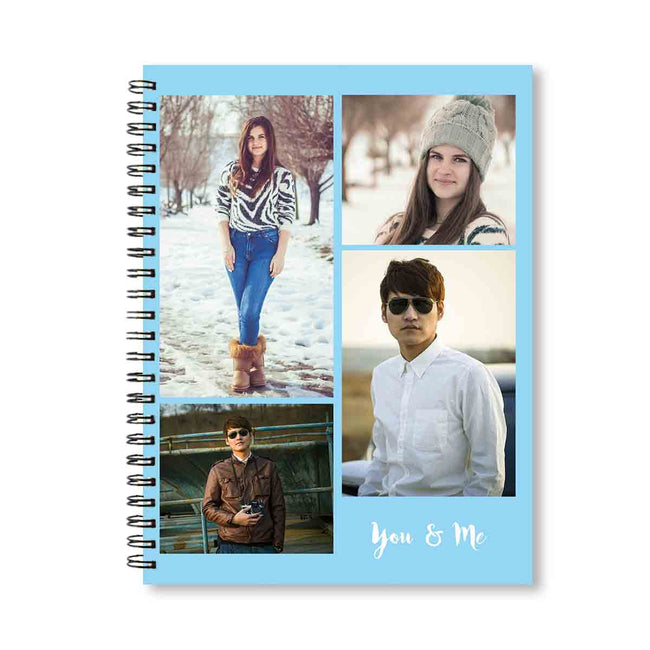 Notebooks-Classic Gallery of 4 Notebook - Blue-