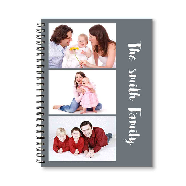 Notebooks-Classic Photostrip Notebook - Grey-