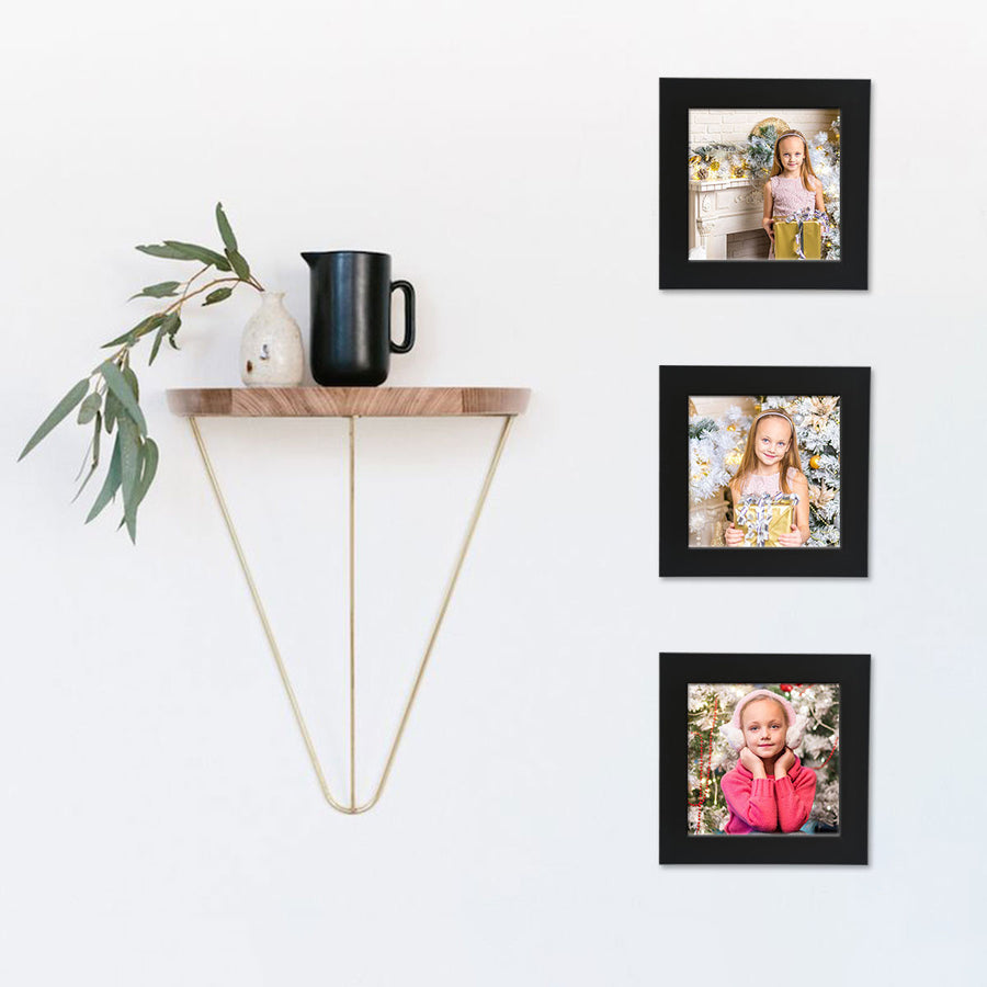 Photo Walls-Instasquare Framed Prints Set of 3-6in x 6in-Black