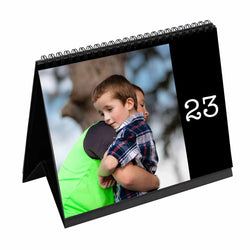 Calendars-31 Day Daily Desk Calendar-Black-
