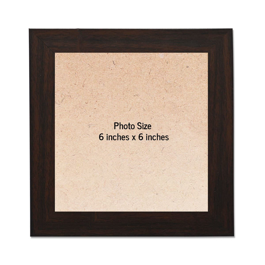 Square Photo Frames Medium Size 6in x 6in Set of 4