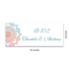 Name Plates-Blue Orange Mandala Name Plate-Sunboard-