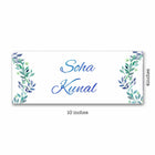 Name Plates-Floral Blue Green Name Plate-Sunboard-