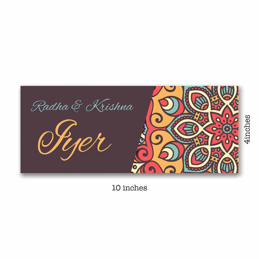 Name Plates-Chrome Mosaic Name Plate-Sunboard-