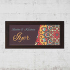 Name Plates-Chrome Mosaic Name Plate-Brown Frame-