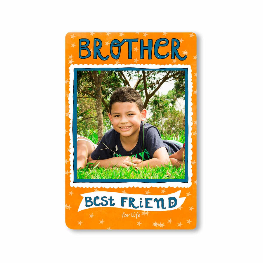 Fridge Magnets-Brother Best Friend for Life Photo Magnet-