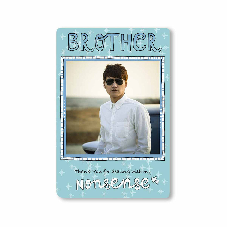 Fridge Magnets-Brother Dealing With Nonsense Photo Magnet-