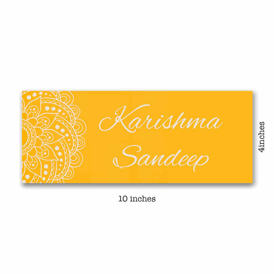 Name Plates-Chrome Mandala Name Plate-