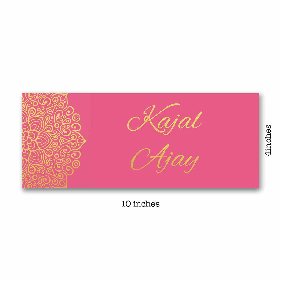 Name Plates-Pink Gold Mandala Name Plate-