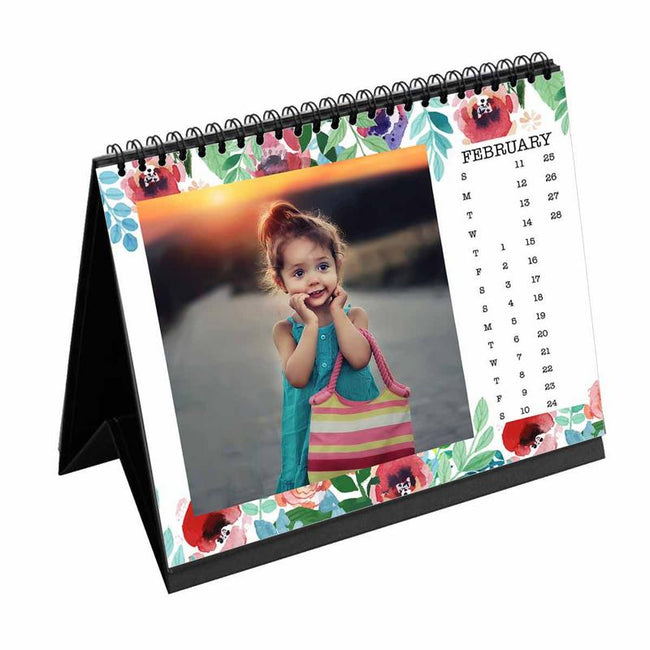 Calendars-2019 Desk Calendar Floral Rose-6 inches x 8 inches-