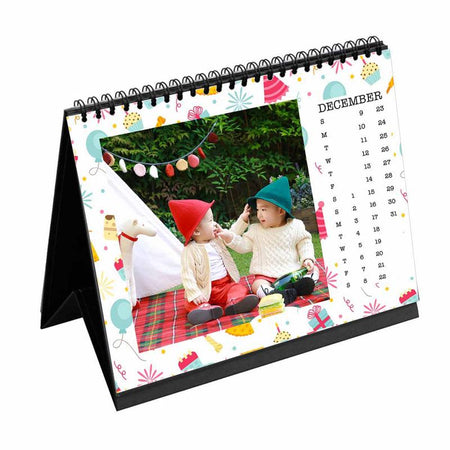 Calendars-2018 Desk Calendar Birthday Pattern-