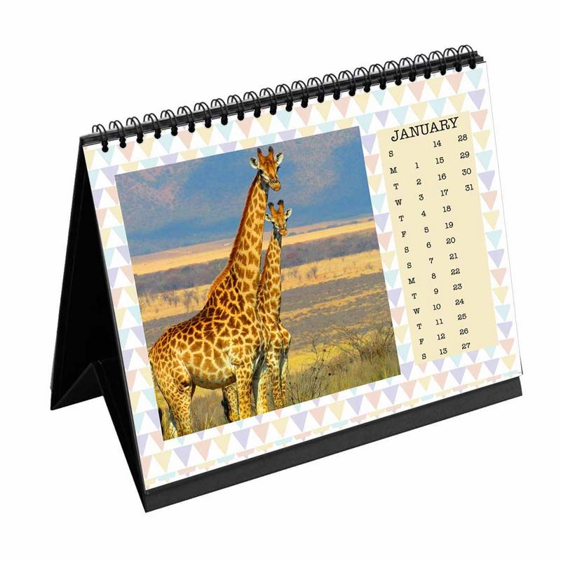 Calendars-2020 Desk Calendar Birthday Triangles-6 inches x 8 inches-