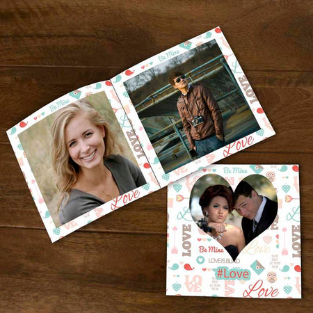 Softcover Photo Books-Valentine Love Text Pattern Flip Photo Book-