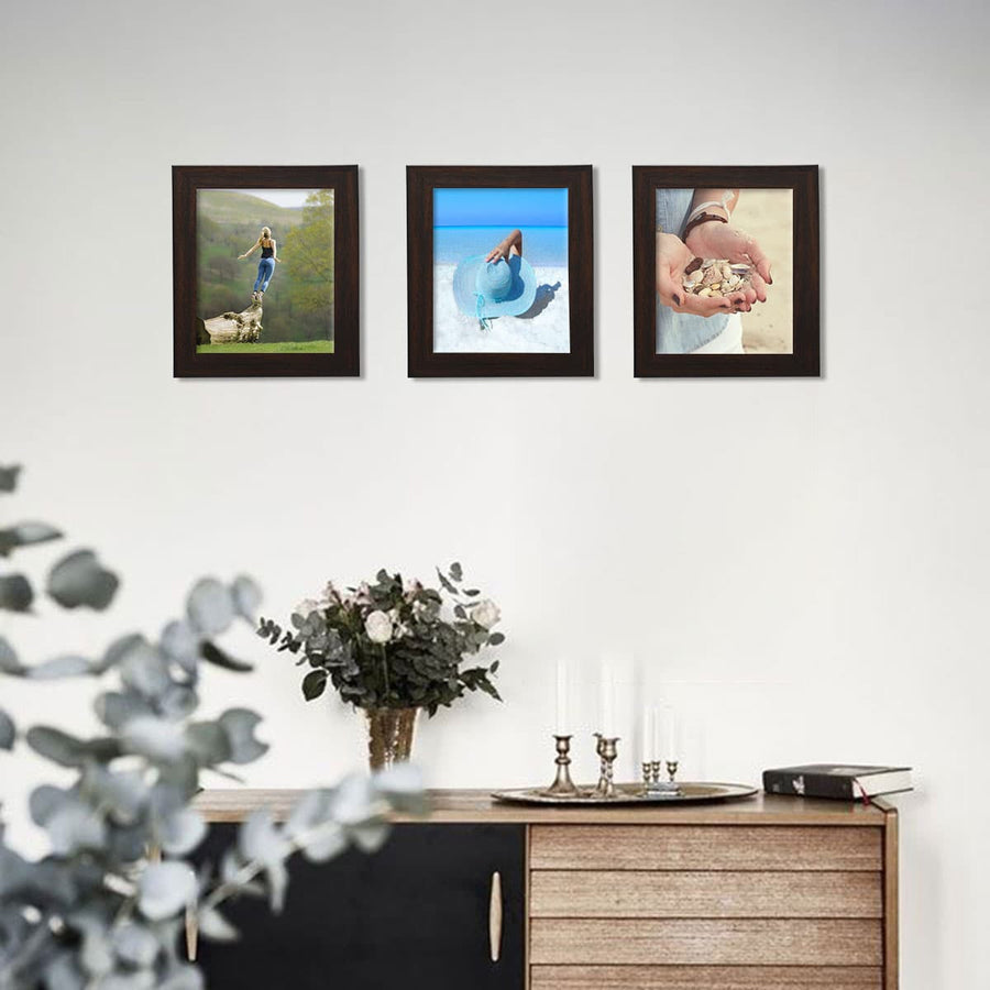Photo Walls-Macro Framed Prints Set of 3-6in x 8in-Brown