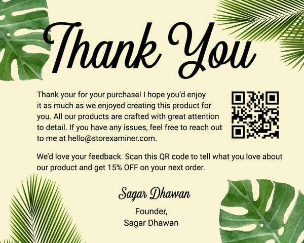 Handwritten Acknowledgements Ecommerce Shopify