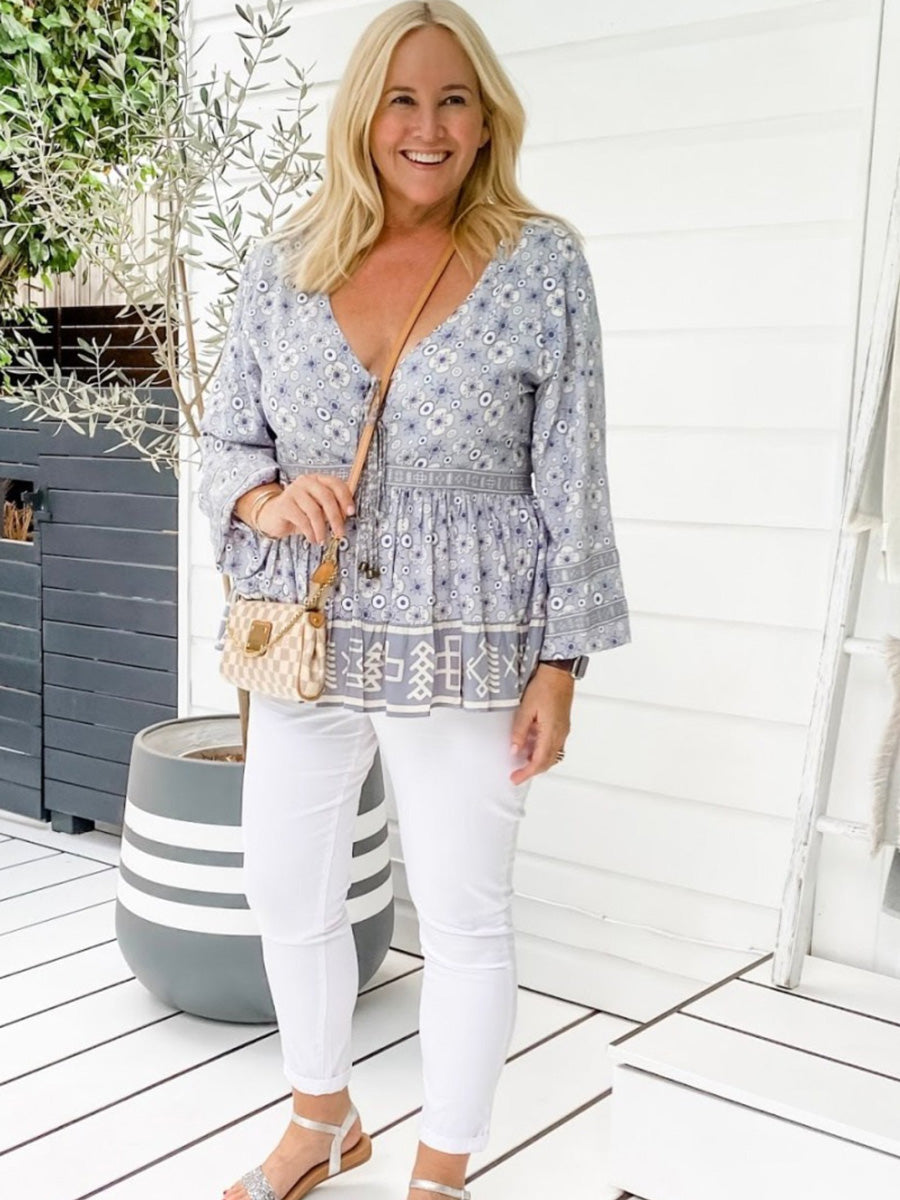 Marrakech Billow Sleeve Blouse