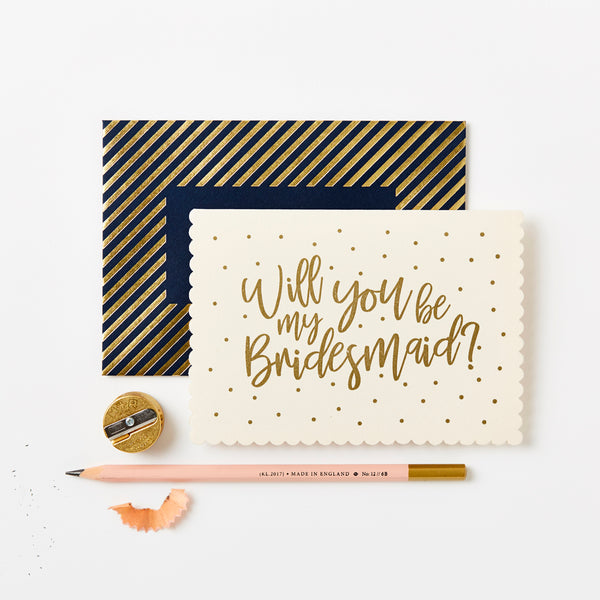 Will you be my Bridesmaid? Greetings Card