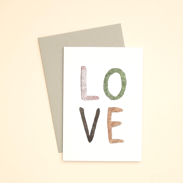 L O V E Greetings Card